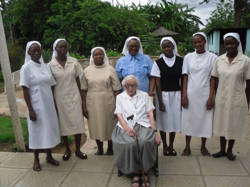 Sr Christopher with the community