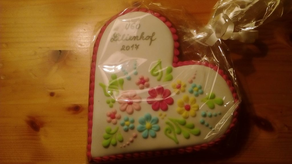 Each sister received a beautiful gingerbread heart from the Slovak province, to mark the event.
