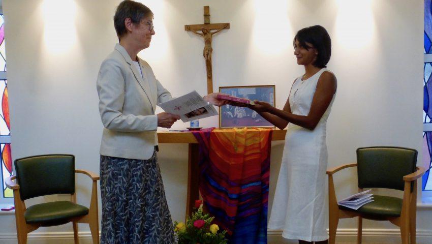 Leona Fernandes enters the novitiate