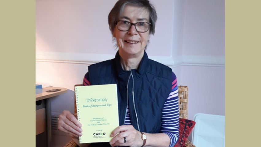 Sr Frances Orchard lends her support to new cookbook in aid of CAFOD